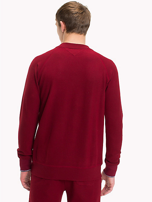 TOMMY HILFIGER Fleece Sweatshirt - POMEGRANATE - TOMMY HILFIGER Loungewear & Underwear - detail image 1