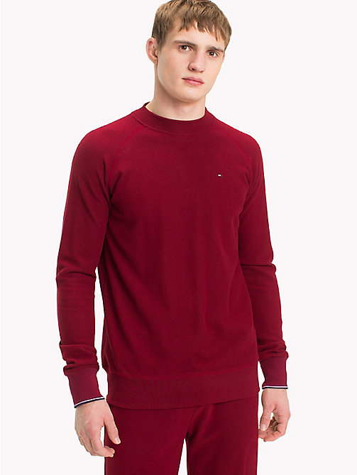 TOMMY HILFIGER Fleece Sweatshirt - POMEGRANATE - TOMMY HILFIGER Loungewear & Underwear - main image