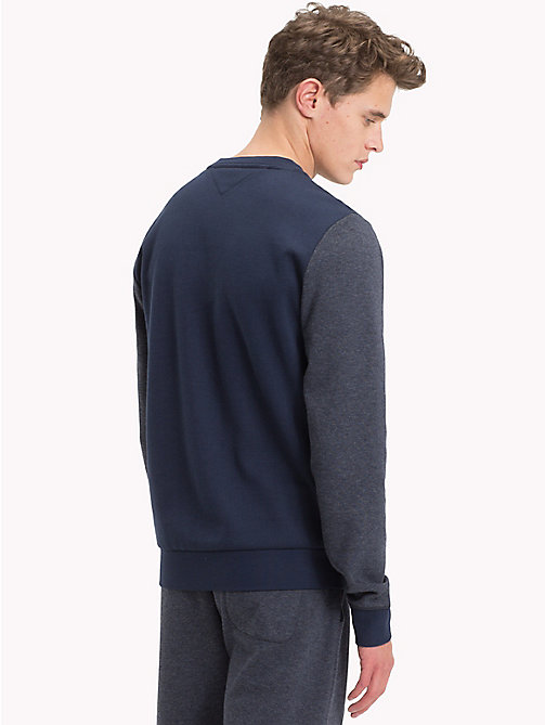 TOMMY HILFIGER Colour-Blocked Sweatshirt - NAVY BLAZER - TOMMY HILFIGER Loungewear & Underwear - detail image 1