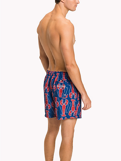TOMMY HILFIGER Lobster Swim Shorts - LOBSTER PRINT TRUE BLUE/TANGO RED - TOMMY HILFIGER Underwear & Swimwear - detail image 1