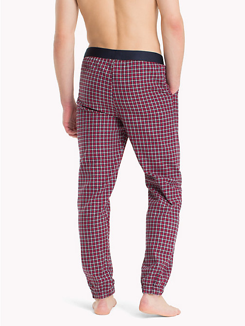 TOMMY HILFIGER Plaid Check Pyjama Trousers - NAVY BLAZER - TOMMY HILFIGER Clothing - detail image 1