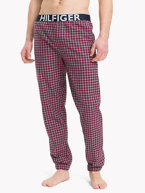 TOMMY HILFIGER Plaid Check Pyjama Trousers - NAVY BLAZER - TOMMY HILFIGER Loungewear & Underwear - main image