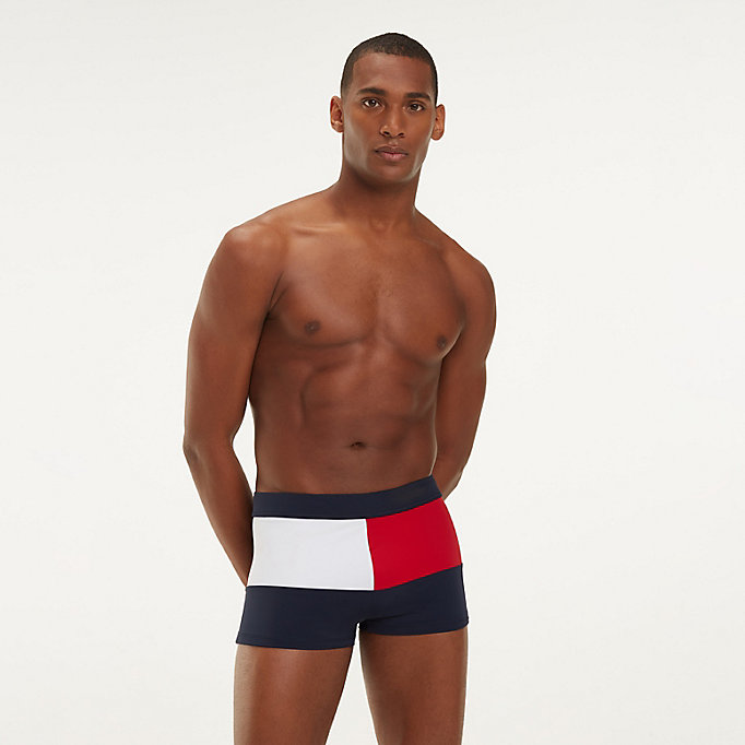 0bb4345aed48d Colour-Blocked Flag Swimming Trunks | Tommy Hilfiger