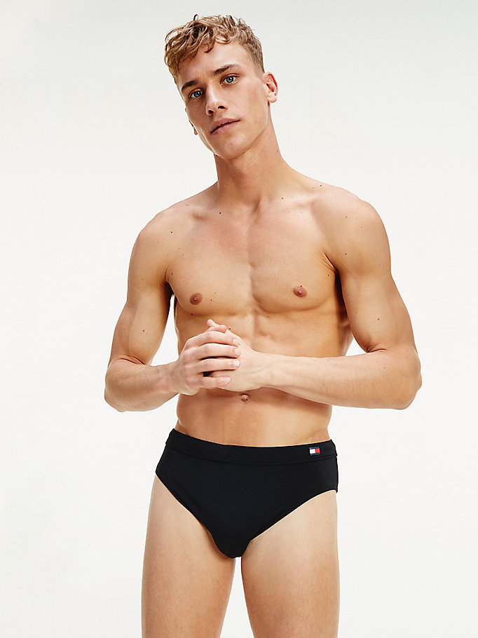 black essential swim briefs for men tommy hilfiger