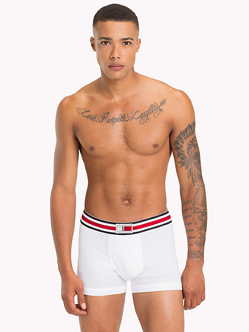 TOMMY HILFIGER Lewis Hamilton Trunks - BRIGHT WHITE - TOMMY HILFIGER Underwear & Swimwear - main image