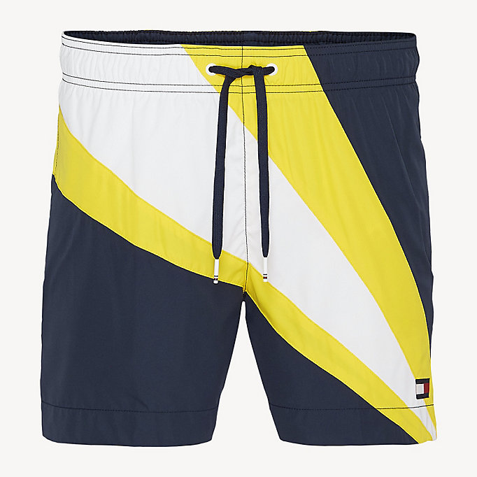 70da9930c2 Colour-Blocked Drawstring Swim Shorts | Tommy Hilfiger