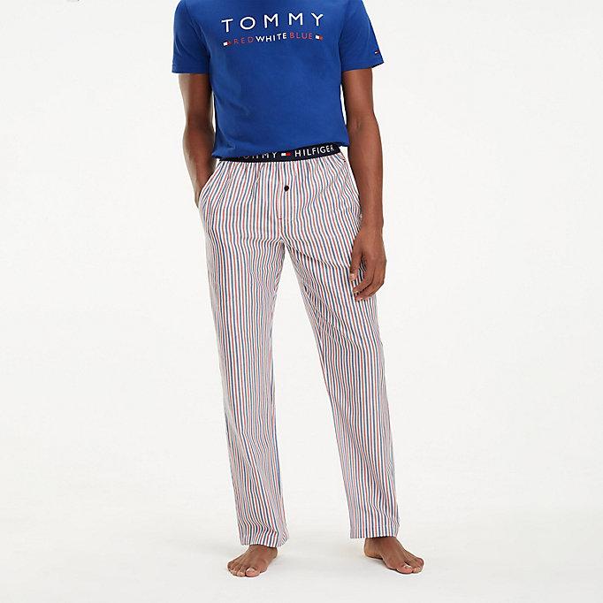 Tommy hilfiger pantalon détente tissé à carreaux bleu