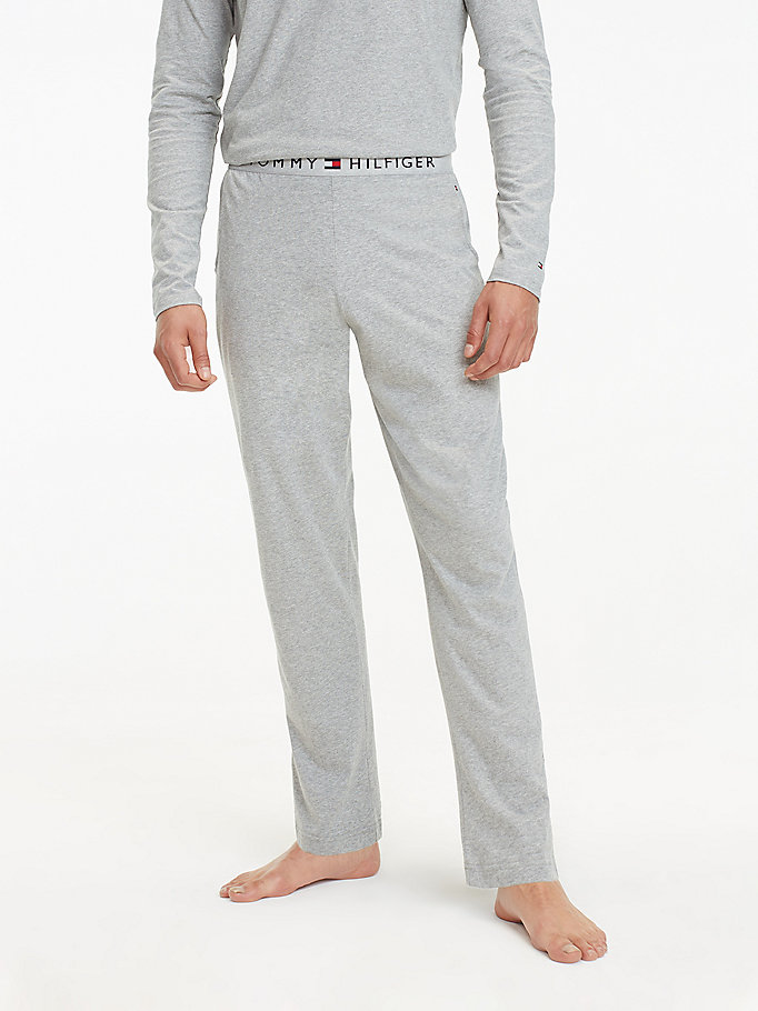 grey jersey loungewear pants for men tommy hilfiger