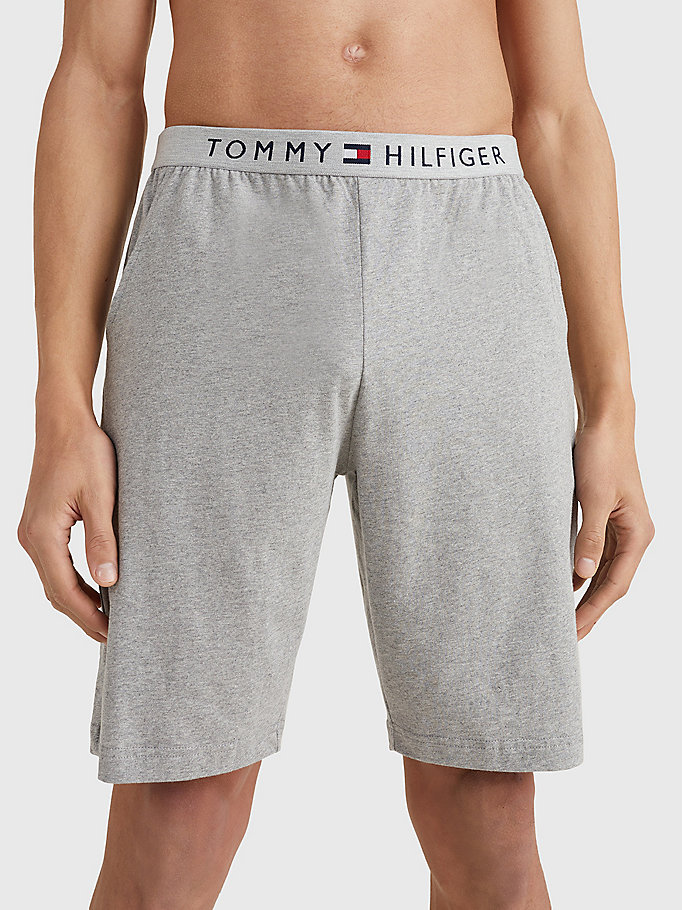 grey jersey loungewear shorts for men tommy hilfiger
