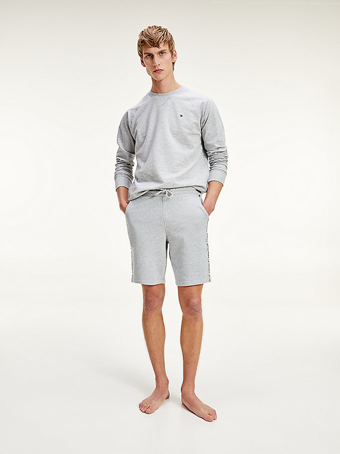 sweat col ras-du-cou gris pour men tommy hilfiger