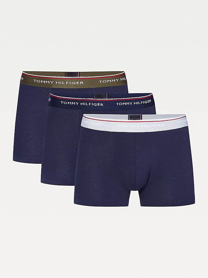 khaki 3-pack organic cotton trunks for men tommy hilfiger