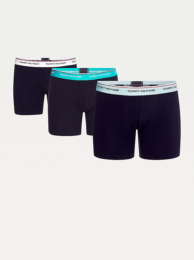 orange 3-pack organic cotton boxer briefs for men tommy hilfiger