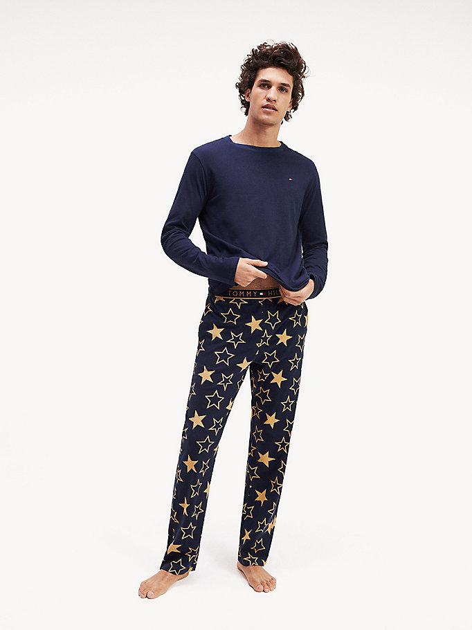 100% autentico 45b51 6d0a0 Set pigiama con stampa di stelle | NAVY BLAZER/NAVY BLAZER ...