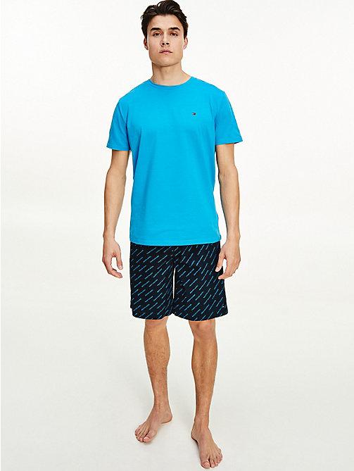 Tommy Hilfiger Men/'s Jersey Loungewear Shorts In Navy Blazer