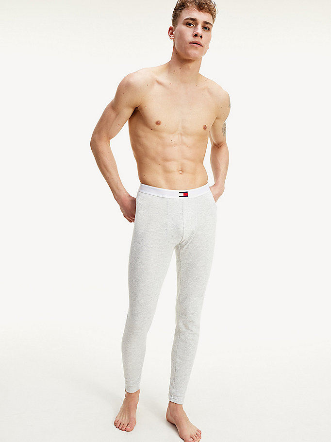 grey th warm long johns for men tommy hilfiger