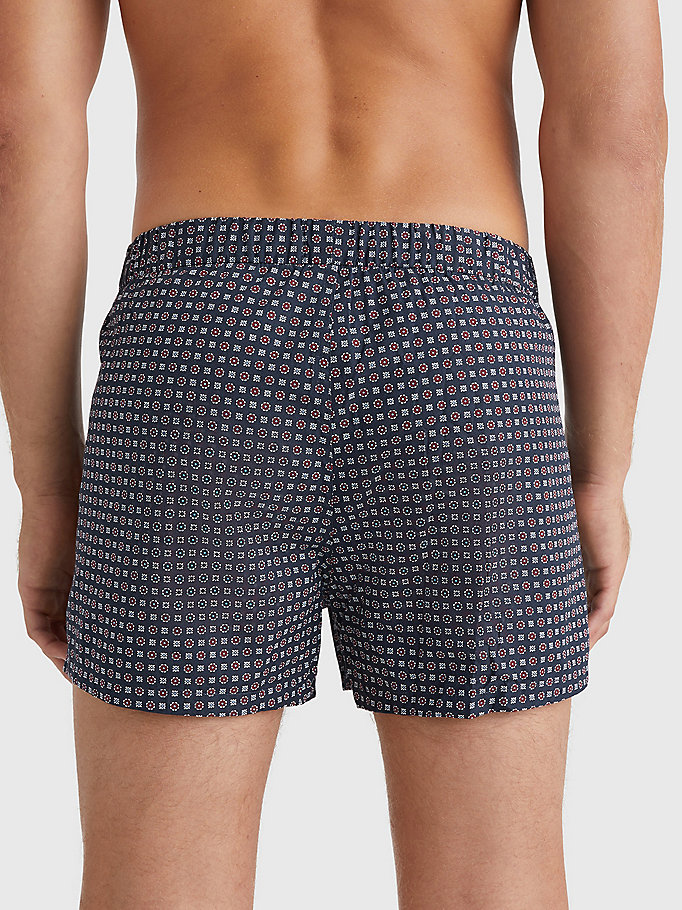purple 2-pack woven print boxer shorts for men tommy hilfiger