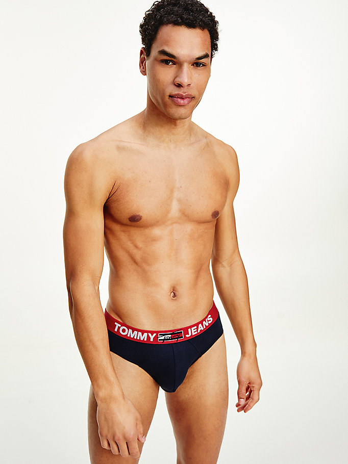 blue logo waistband briefs for men tommy hilfiger