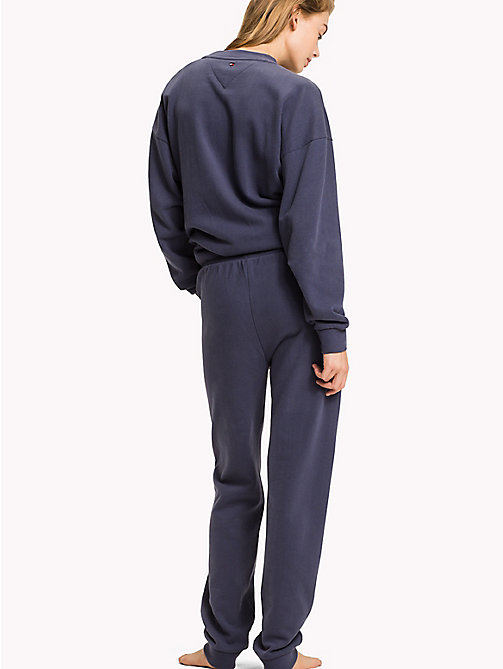 TOMMY HILFIGER Tapered Fit Lounge Trousers - NIGHTSHADOW BLUE - TOMMY HILFIGER Bottoms - detail image 1