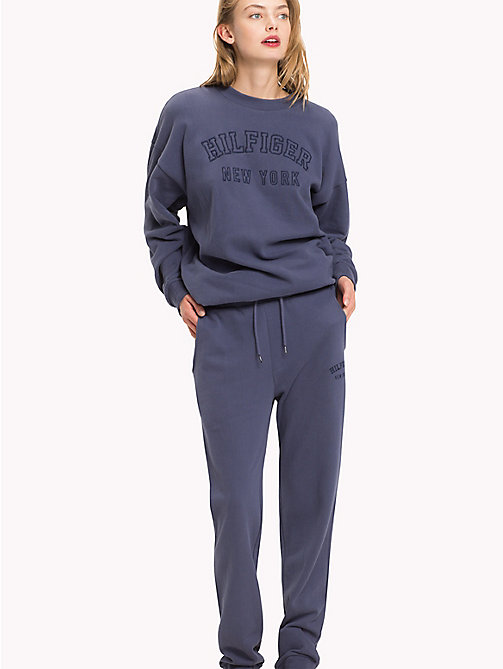 TOMMY HILFIGER Tapered Fit Lounge Trousers - NIGHTSHADOW BLUE - TOMMY HILFIGER Clothing - main image