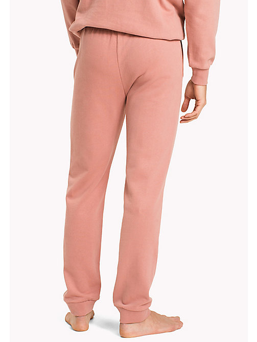 TOMMY HILFIGER Tapered Fit Lounge Trousers - ASH ROSE - TOMMY HILFIGER Pyjama Bottoms - detail image 1