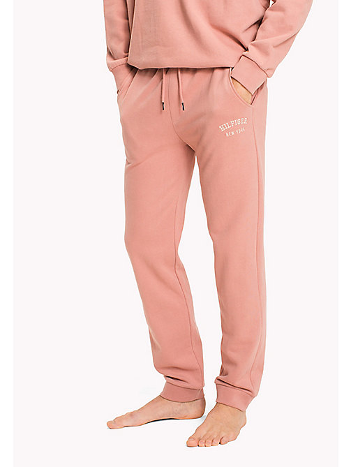 TOMMY HILFIGER Tapered Fit Lounge Trousers - ASH ROSE - TOMMY HILFIGER Pyjama Bottoms - main image