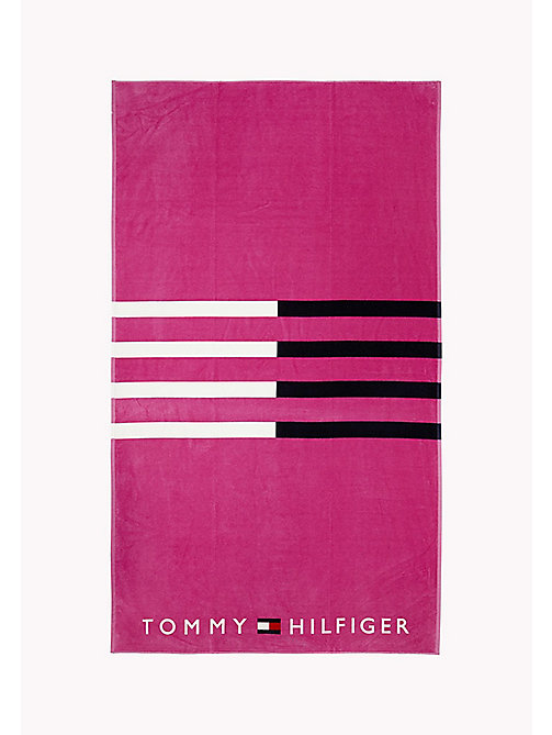 TOMMY HILFIGER Stripe Print Towel - ROSE VIOLET - TOMMY HILFIGER VACATION FOR HER - main image