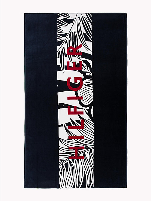 TOMMY HILFIGER Cotton Tropical Beach Towel - NAVY BLAZER -  VACATION FOR HER - main image