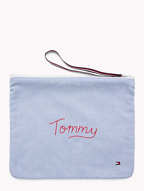 TOMMY HILFIGER Upcycled Travel Zip Pouch - NAVY BLAZER - TOMMY HILFIGER Sustainable Evolution - main image