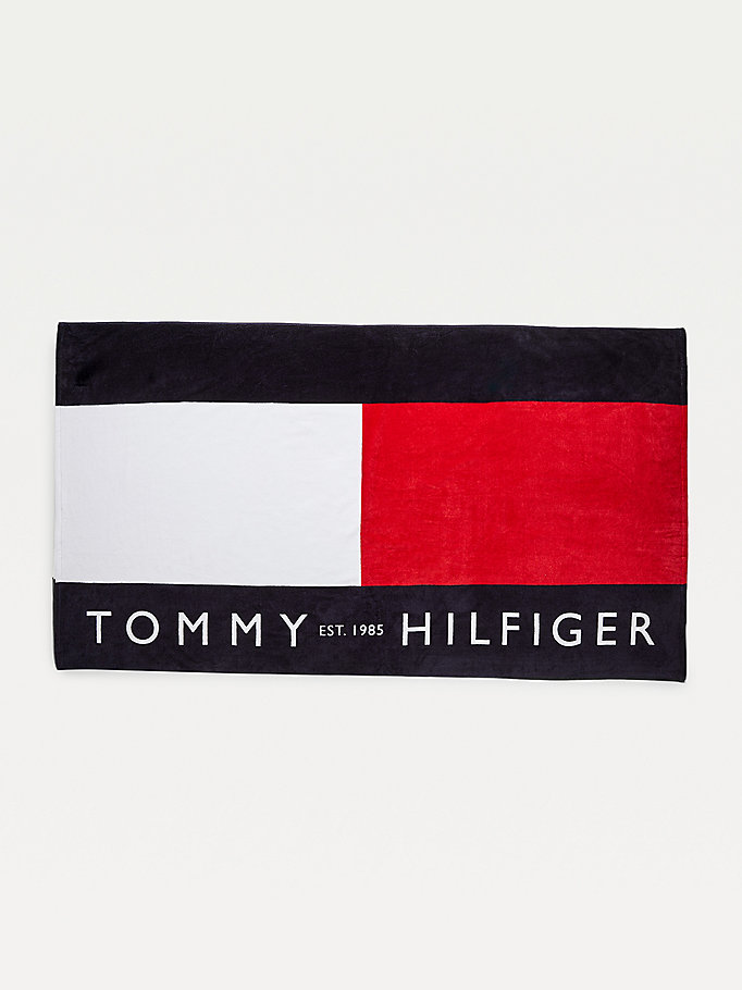 white flag logo towel for unisex tommy hilfiger
