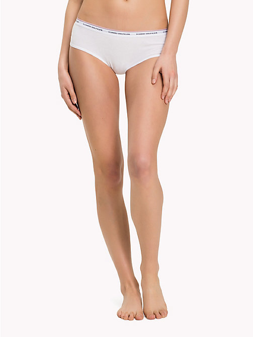 TOMMY HILFIGER Cotton Hipster 3 Pack - WHITE / WHITE / WHITE - TOMMY HILFIGER Lingerie - main image
