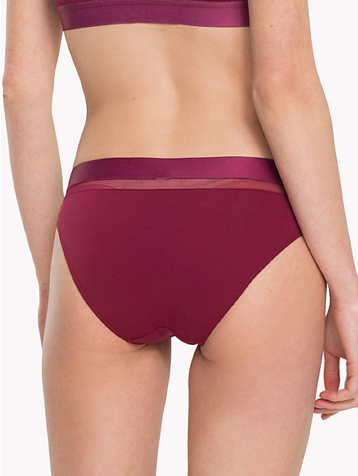 TOMMY HILFIGER Mesh Bikini Briefs - RHODODENDRON - TOMMY HILFIGER Lounge & Lingerie - detail image 1