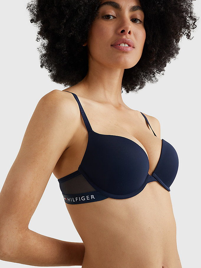 TOMMY HILFIGER Microvezel push-up beha - BLACK - TOMMY HILFIGER Dames - detail image 1
