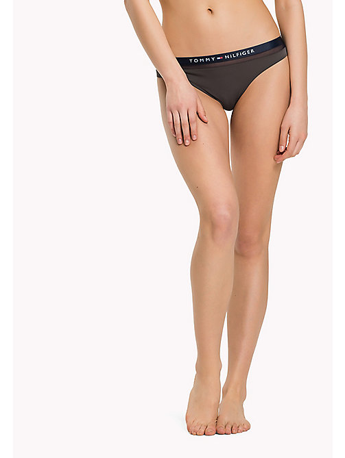 TOMMY HILFIGER Regular Fit Mesh Thong - MAGNET - TOMMY HILFIGER Underwear & Loungewear - main image