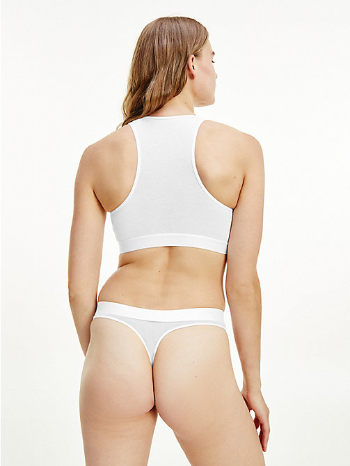 TOMMY HILFIGER Regular Fit Cotton Mesh Thong - WHITE - TOMMY HILFIGER Briefs - detail image 1