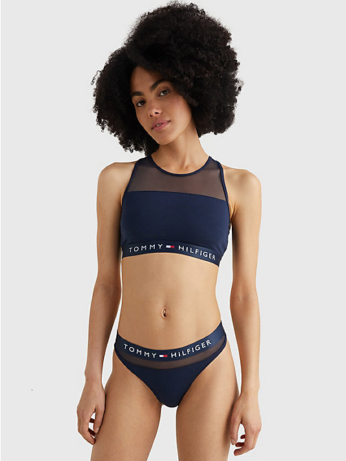 TOMMY HILFIGER Regular Fit Cotton Mesh Thong - NAVY BLAZER - TOMMY HILFIGER Briefs - detail image 1