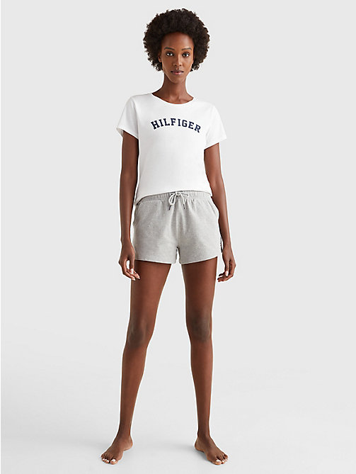 TOMMY HILFIGER Organic Cotton Logo Lounge T-Shirt - WHITE - TOMMY HILFIGER Sustainable Evolution - detail image 1
