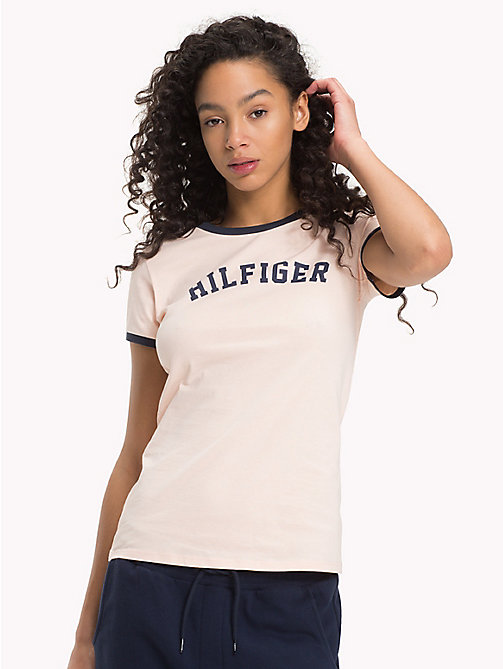 TOMMY HILFIGER Logo T-Shirt - PALE BLUSH - TOMMY HILFIGER Sustainable Evolution - main image