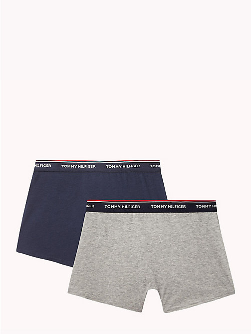 TOMMY HILFIGER Cotton 2 Pack Trunks - GREY HEATHER/NAVY BLAZER - TOMMY HILFIGER Two Packs - detail image 1