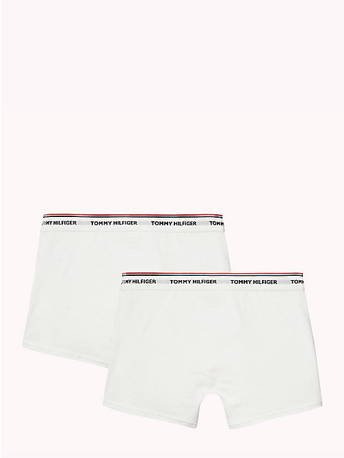 TOMMY HILFIGER Cotton 2 Pack Trunks - WHITE/WHITE - TOMMY HILFIGER Two Packs - detail image 1