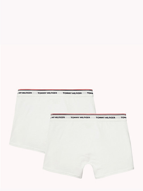 TOMMY HILFIGER Kids' 2 Pack Regular Fit Boxers - WHITE / WHITE - TOMMY HILFIGER Underwear & Socks - detail image 1
