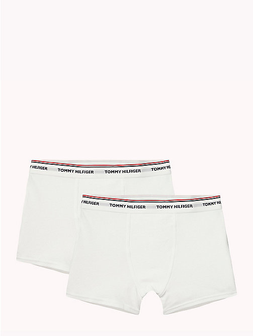 TOMMY HILFIGER Cotton 2 Pack Trunks - WHITE/WHITE - TOMMY HILFIGER Two Packs - main image