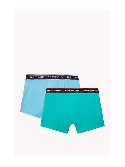 TOMMY HILFIGER Cotton 2 Pack Trunks - BACHELOR BUTTON / COLUMBIA - TOMMY HILFIGER Two Packs - detail image 1