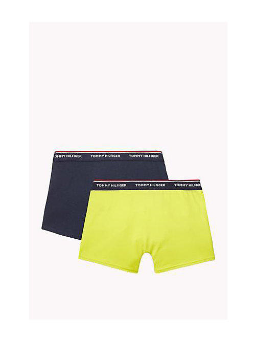 TOMMY HILFIGER Cotton 2 Pack Trunks - NAVY BLAZER / SULPHUR SPRING - TOMMY HILFIGER Two Packs - detail image 1