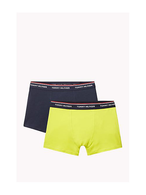 TOMMY HILFIGER Cotton 2 Pack Trunks - NAVY BLAZER / SULPHUR SPRING - TOMMY HILFIGER Two Packs - main image
