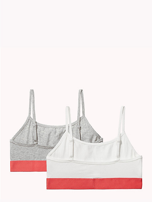 TOMMY HILFIGER Kids' 2 Pack String Bralette - GREY HEATHER/WHITE - TOMMY HILFIGER Underwear & Socks - detail image 1