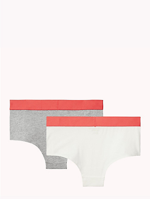 TOMMY HILFIGER Cotton 2 Pack Hipsters - GREY HEATHER / WHITE - TOMMY HILFIGER Briefs - detail image 1