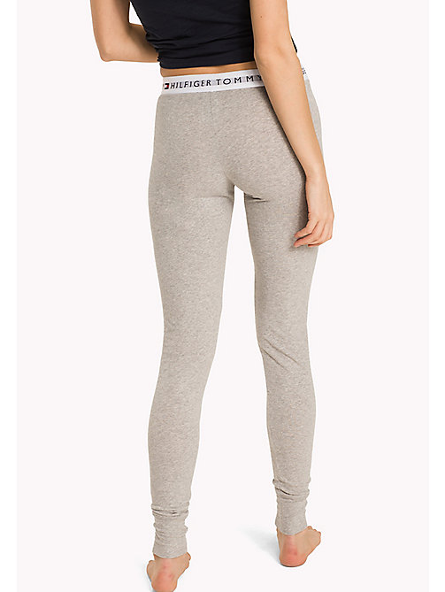 TOMMY HILFIGER Cotton Iconic Pyjama Trousers - GREY HEATHER - TOMMY HILFIGER Lounge & Nightwear - detail image 1
