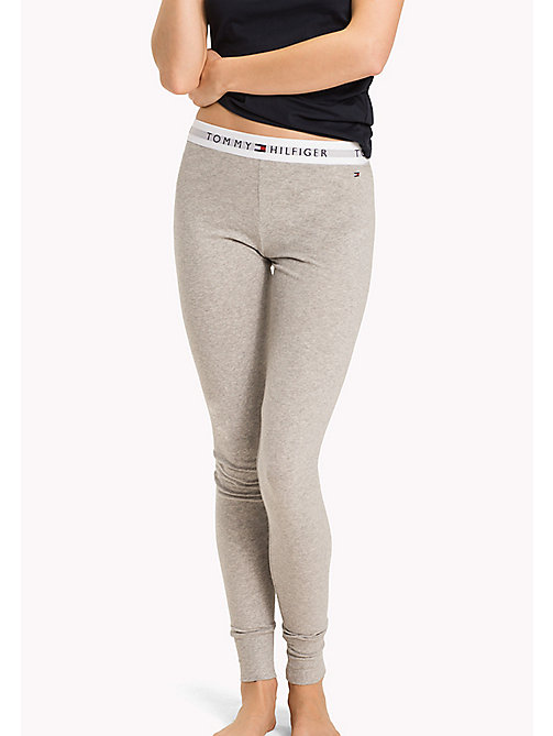 TOMMY HILFIGER Regular Fit Leggings - GREY HEATHER - TOMMY HILFIGER Loungewear & Nachtwäsche - main image
