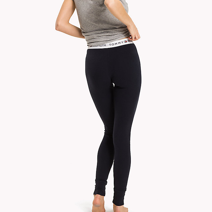TOMMY HILFIGER Regular Fit Leggings - GREY HEATHER - TOMMY HILFIGER Women - detail image 1