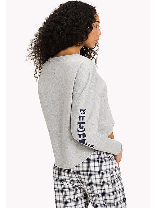 TOMMY HILFIGER TRACK TOP - GREY HEATHER - TOMMY HILFIGER Donna - dettaglio immagine 1